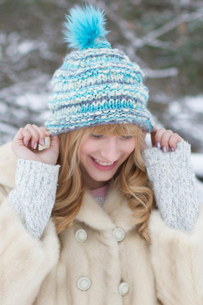 Snow Cap Hat pdf knitting pattern