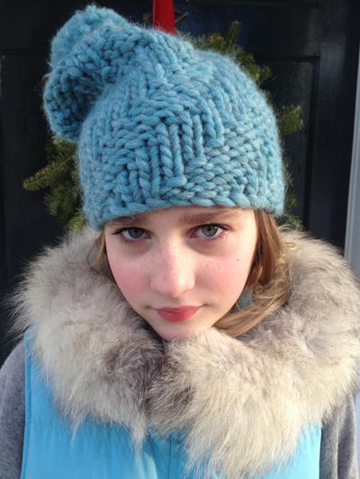 Steep Climb Slouch Hat pdf knitting pattern