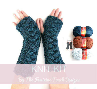 Knit instructions for fingerless gloves / arm warmers