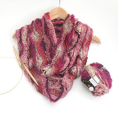 misterpattern - PDF knitting pattern for feminine flowery wool / cotton / sil...