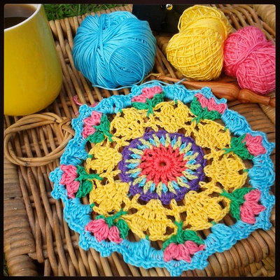 Crochet Pattern - Love Blooms Mandala by The Little Bee