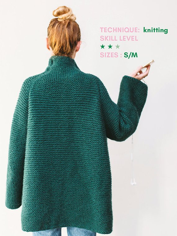 Green coat knitting pattern