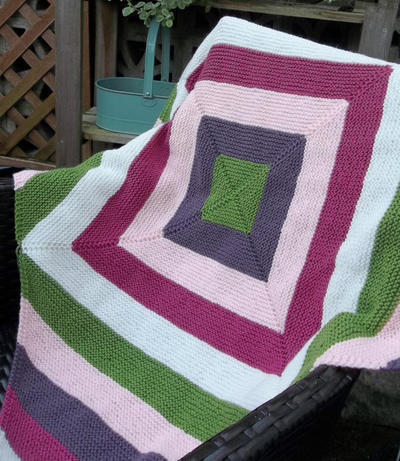 Abstract Square Blanket Throw