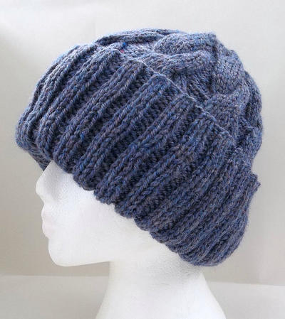 Aran Cable Slouchy Beanie Hat