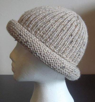 Aran Tweed Ribbed Hat