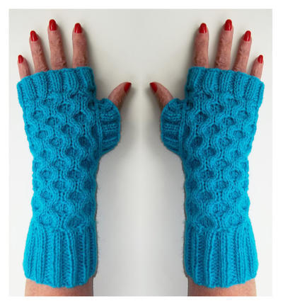 Cable Fingerless Gloves (Mitts)