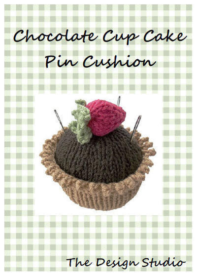 Chocolate Cupcake Pin Cushion Hand Knitting Pattern