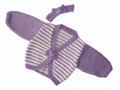 Knitting Pattern. Baby and Toddler Bow Peep Cardigan