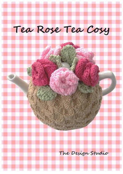 Tea Rose Cosy Hand Knitting Pattern
