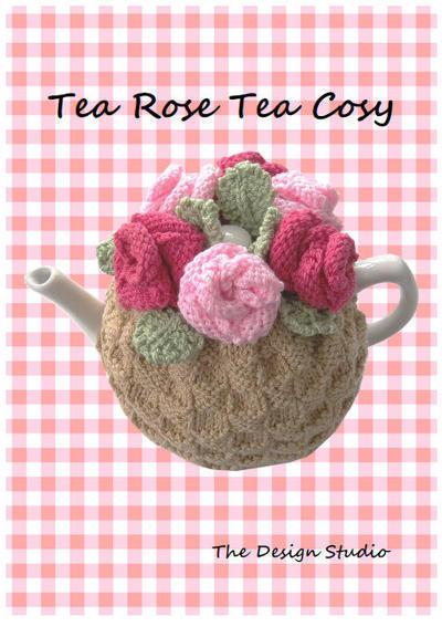 Tea Rose Cosy Hand Knitting Pattern
