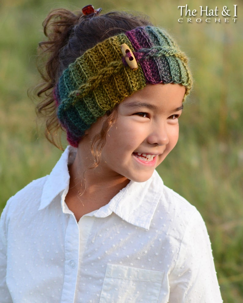 Autumn Breeze Headwrap - crochet headband pattern braid head wrap (Infant Baby Toddler Child Adult)