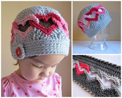 Be Mine Hat & Sweetheart Scarf