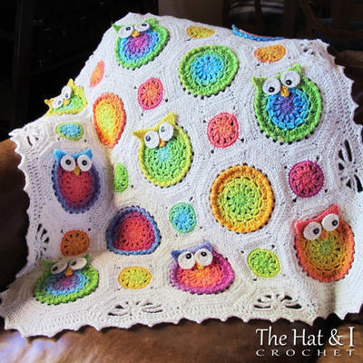 Owl Obsession - a CoLorFuL owl blanket
