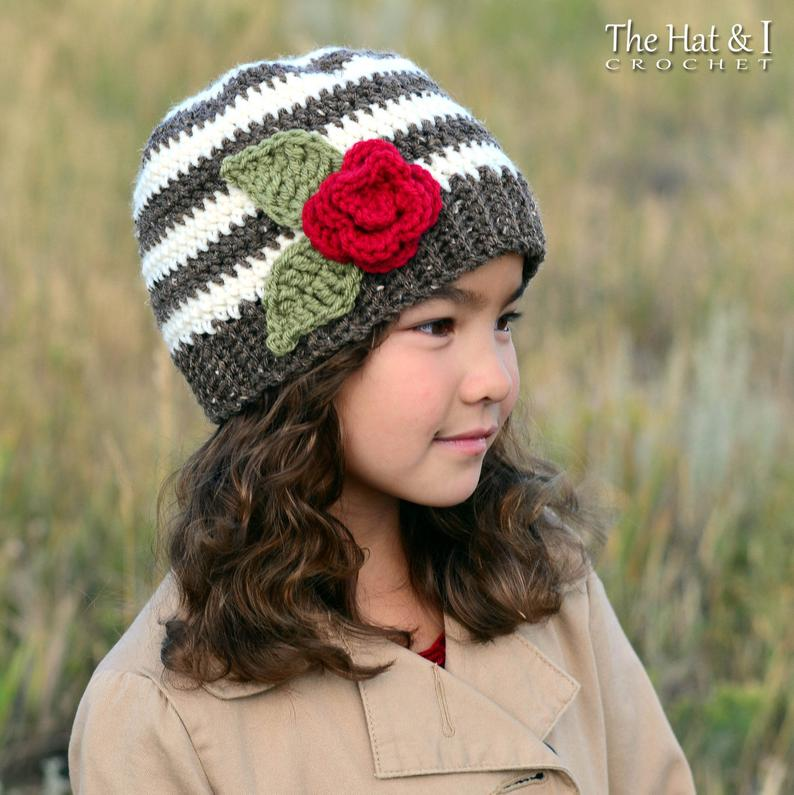 Sweet & Simple - crochet pattern for slouchy + beanie hat boys girls hat