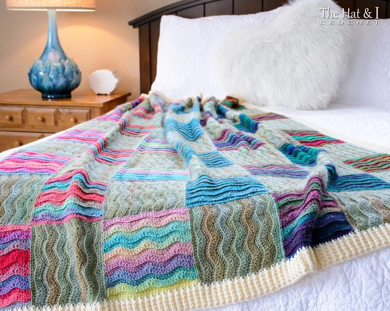 Waves for Days - crochet pattern for ripple blanket
