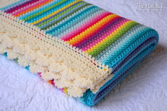 Crochet Blanket PATTERN - Crayon Box Blanket