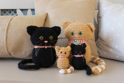 Cute Cats And Sweet Kittens Knitting Pattern