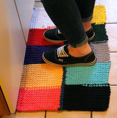 Knitted T-Shirt Rug