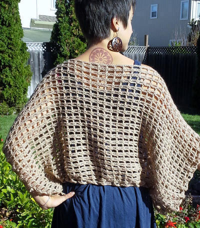Crochet Poncho Sweater Pattern