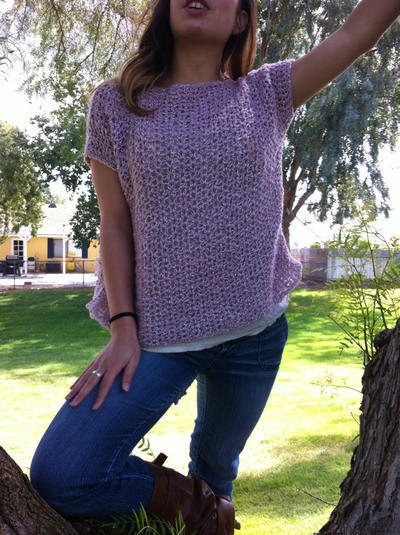 Crochet Top Sweater Pattern: The Over-Sized Crochet T-Shirt