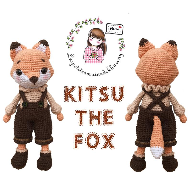 Crochet pattern amigurumi: KITSU THE FOX