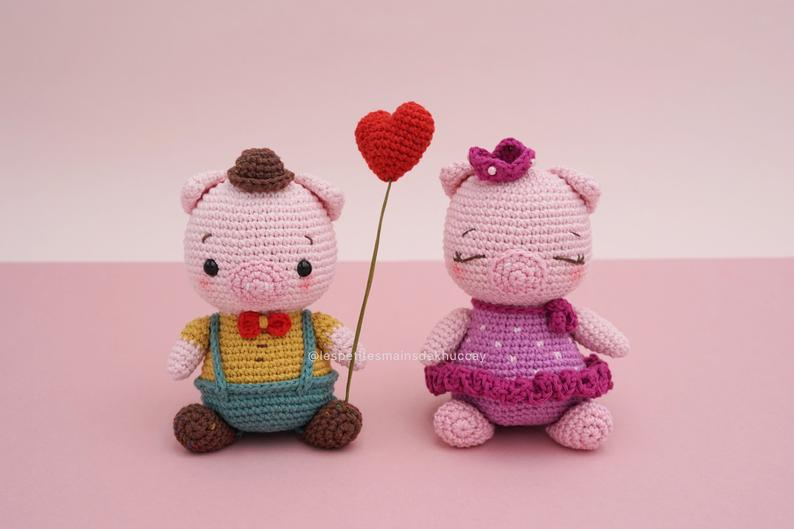 CROCHET PATTERN AMIGURUMI: Pi and Po