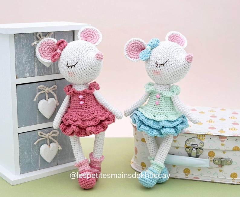 Little Mouse Xuxu Crochet Pattern Amigurumi