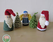 Amigurumi Christmas Combo: Christmas tree (2 designs), Gnome, Santa Claus and Snegurochka