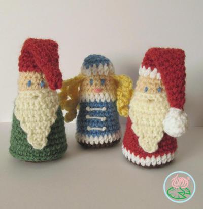 Amigurumi Gnome, Santa and Snegurochka