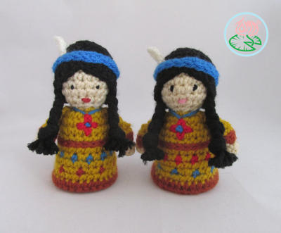 Amigurumi Native American Indian Doll