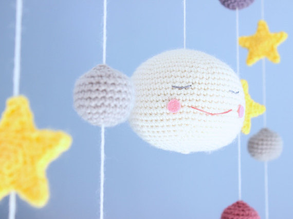 "Crochet Mobile ""Under The Moon"""