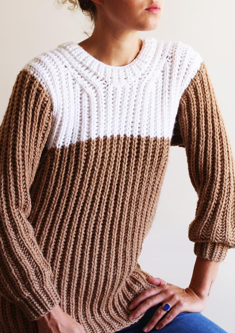 cappuccino sweater - knitting pattern