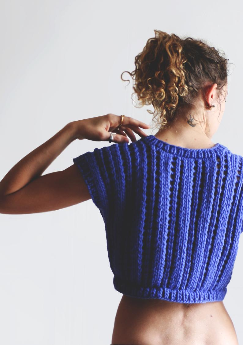 morocco top - knitting pattern