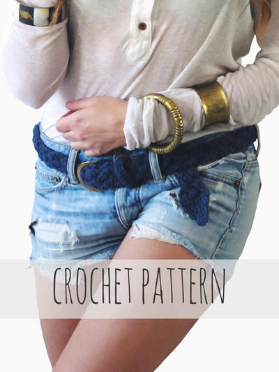 Braided Belt Nautical Crochet Sailing Accessory // First Mate Belt PATTERN