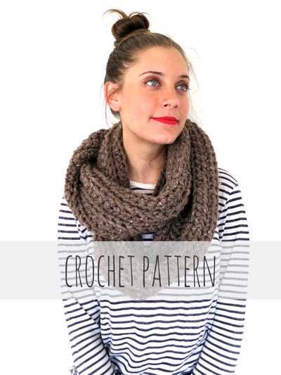 Chunky Soft Crochet Infinity Scarf, Cowl // Boundless Scarf PATTERN