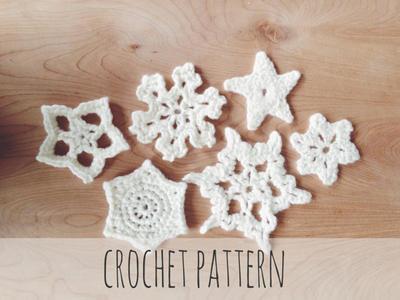 Crochet Snowflake Star Holiday Decor Ornament // Everlasting Snowflakes PATTERN