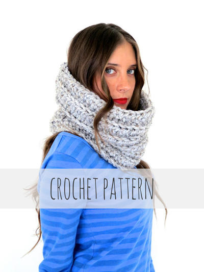 PATTERN for Chunky Soft Crochet Cowl Neck Warmer