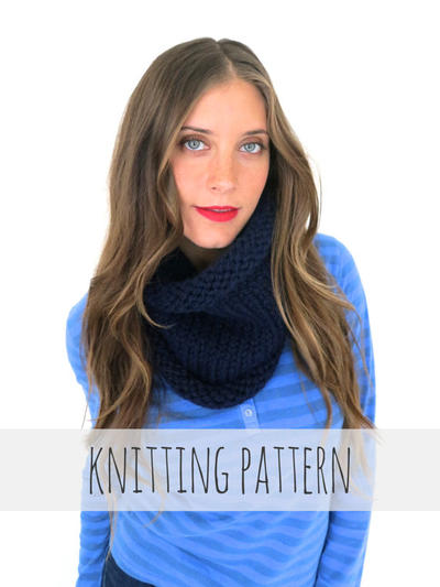 PATTERN for Chunky Soft Knit Cowl Neck Warmer