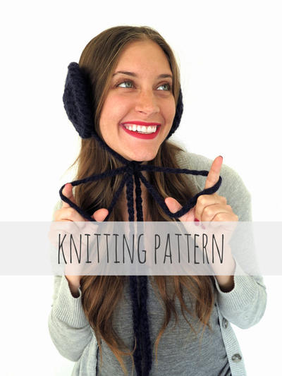 PATTERN for Chunky Soft Knit Ear Muffs Ear Warmers Headband