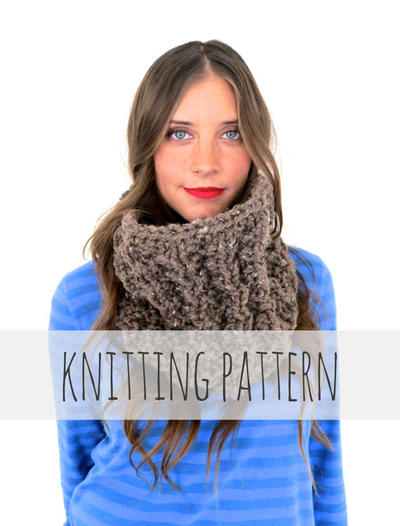 PATTERN for Chunky Soft Thermal Knit Cowl
