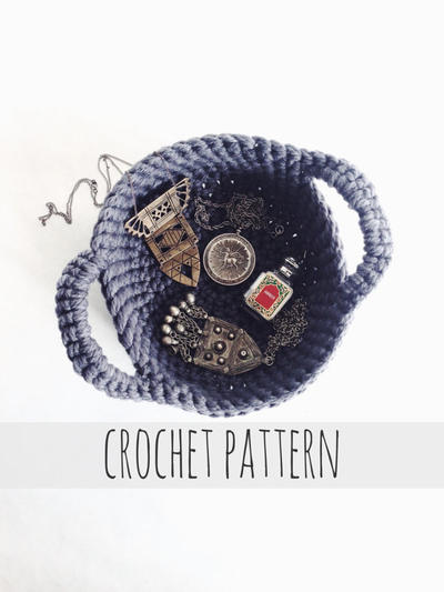 PATTERN for Crochet Nesting Bowl Jewelry Catch-All Dish