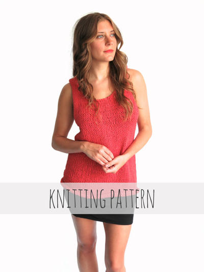 PATTERN for Knit Tank Top Casual Everyday Simple Loose