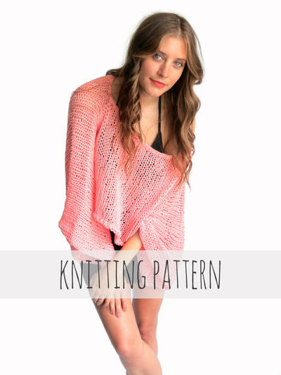 PATTERN for Loose Knit Summer Sweater Top Oversized Boho