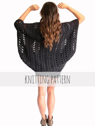 Summer poncho knitting Pattern