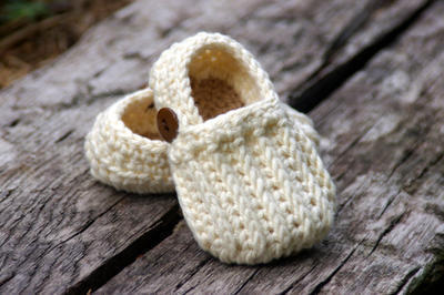 Baby Booties Crochet Pattern Easy On Loafers - Knit look crochet