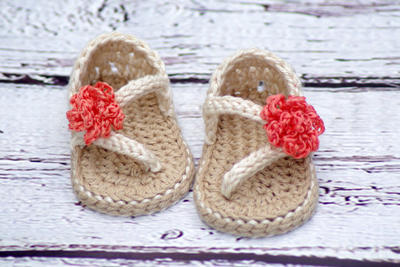 Crochet Baby Pattern Sandals - Carefree Sandals