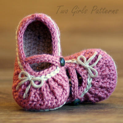 Crochet Pattern # 210 Too Cute Mary Janes with easy gathering