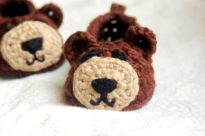 Crochet Pattern for Baby Booties - Baby Bear House Slippers Pattern