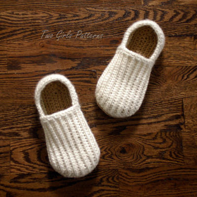 Crochet Pattern for Mens House Shoes
