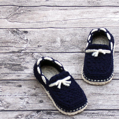 Crochet Pattern for Super Pack of Mens Loafers